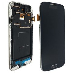Дисплей Samsung i9500 Galaxy S4/i337/i9505 with touchscreen and frame blue